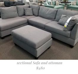 Reversible Sectional Sofa  and Ottoman  [ New In Box] for Sale in El Monte, CA