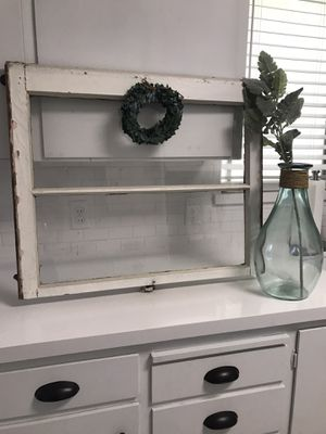 Beautiful wall decor huge farmhouse distressed vintage antique window for Sale in Lodi, CA