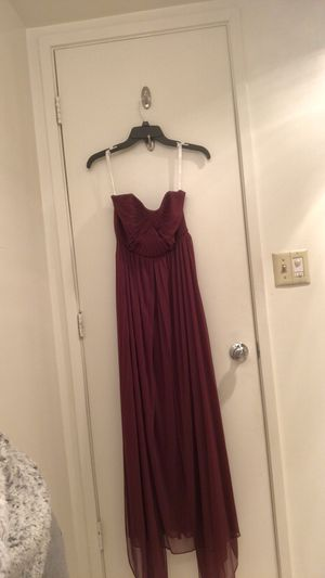 Wine bridesmaid/prom dress size 4 for Sale in Arlington, VA