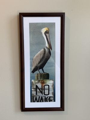 Coastal framed ink painting for Sale in Austin, TX