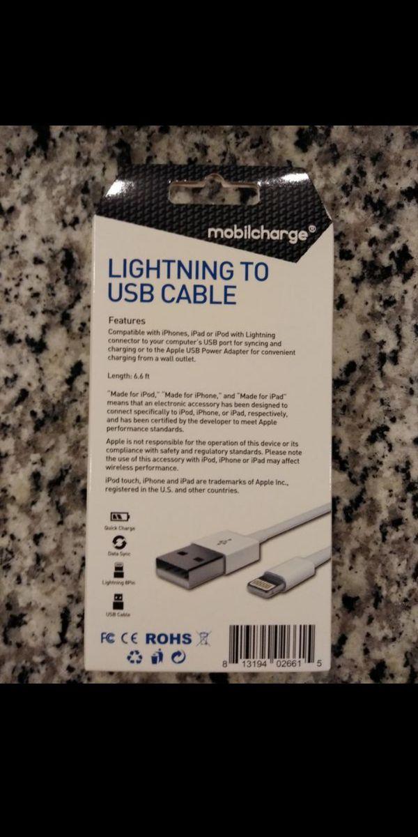 NEW 6.6-feet Apple Lightning Cable