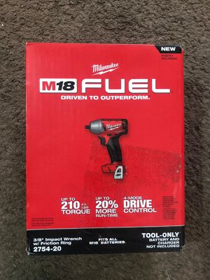 """Milwaukee 3/8"""" IMPACT WRENCH W/ Frinction Ring M18 Fuel/Brushless (2754 20)BRAND NEW!!!Nuevo for Sale in Los Angeles, CA"""