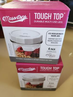 MasonTops Tough Tops reusable canning jar lids Ball Kerr Mason regular mouth for Sale in Portland, OR
