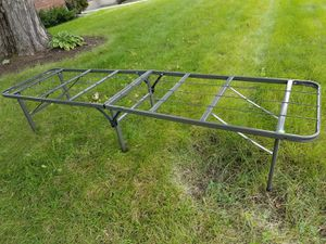 Foldable metal bed frame for Sale in Schenectady, NY