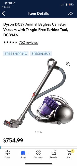 Dyson DC39 Animal Bagless Canister Vacuum with Tangle-Free Turbine Tool, DC39AN for Sale in Temple City, CA