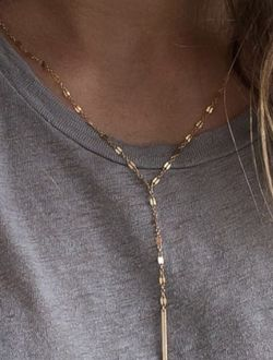 Stainless Steel Lariat Necklace-14k Gold Plated for Sale in Mount Clare,  WV