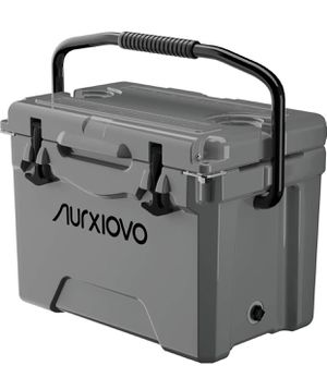 Nurxiovo 25QT Portable Cooler Keeps Ice up to 7 Days Ice Chest Ideal for Camping, Hiking, Fishing, Picnic, BBQs, Traveling, Tailgating Outdoor Activi for Sale in San Gabriel, CA