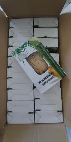 Bamboo wireless mouse lot of 20 for Sale in New Milford, NJ