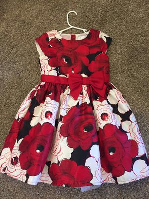 Gorgeous Girls Red Flower Dress sz 5 for Sale in Las Vegas, NV
