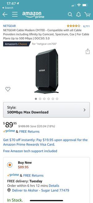 Netgear modem for Sale in Houston, TX
