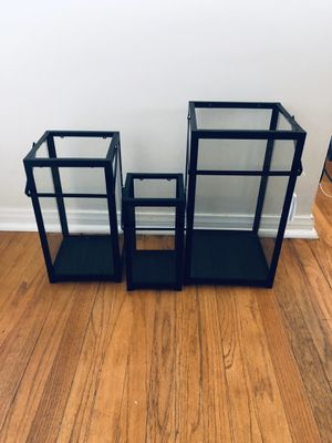 Set of Black candle holders for Sale in Whittier, CA