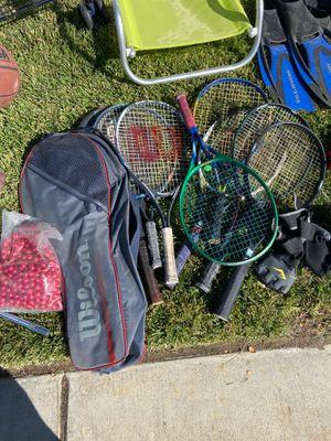Tennis raquets , golf sticks , baseball bats, basketball, surfing board, baseball gloves for Sale in Palmdale, CA