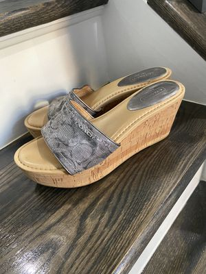 Coach wedges shoes size 8 for Sale in Herndon, VA