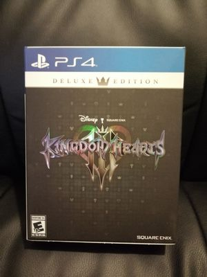 Kingdom Hearts 3 Deluxe Edition PS4 for Sale in San Antonio, TX