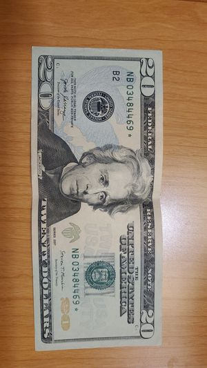 20 Dollars bill star note for Sale in Silver Spring, MD