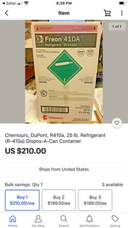 Chemours Freon 410A for Sale in Houston,  TX