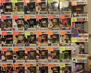 Funko Pops (Prices On Pic) for Sale in Duluth,  GA