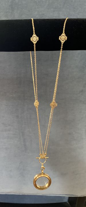 Gold plated necklace with lockette NEW for Sale in Staten Island, NY