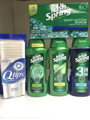 IRISH SPRING BODY WASHES & BODY BARS Q-TIP BUNDLE for Sale in Redondo Beach, CA