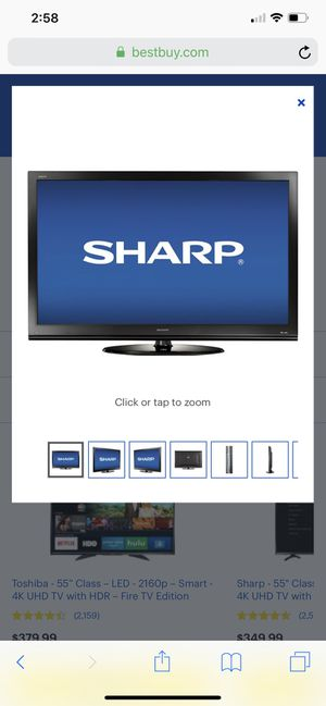 Sharp Aquos 60 inch LCD LED TV for Sale for Sale in Fremont, CA