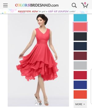 Coral Dress Prom Bridesmaid for Sale in Duarte, CA