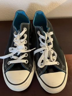 White and Black Converse with Blue on the Inside for Sale in Henderson,  NV