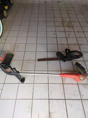 Hedge trimmer and Weed trimmer, Electric for Sale in Elgin, IL