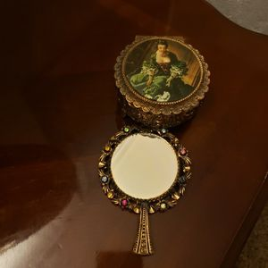 Vintage Music Box And Ringstone Small Mirror for Sale in Irvine, CA