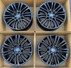 "17"" Lexus ES350 factory wheels rims gloss black new for Sale in Santa Ana, CA"