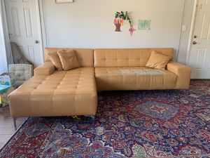 Faux Leather sectional couch for Sale in Los Angeles, CA