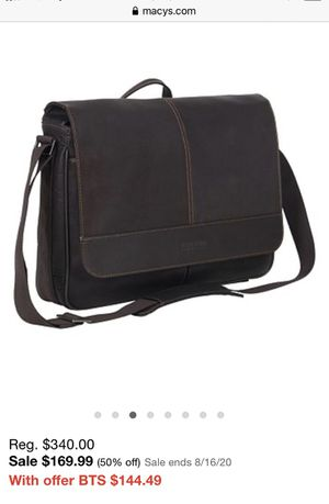 Kenneth Cole Reaction Colombian Leather Messenger Bag for Sale in Las Vegas, NV