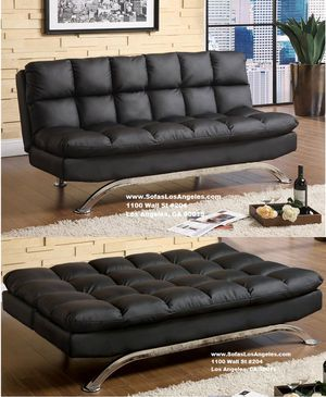 Real Showroom / Visit Us 😁 We Finance - Black Pillow Top Couch Sofa Futon Bed for Sale in Los Angeles, CA
