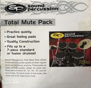 Drum pads 7-Piece standard or Fusion drum set for Sale in Menifee, CA