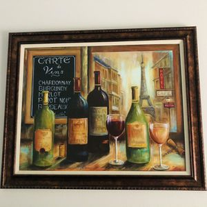 Wine Bottles Painting For Home Decor for Sale in Houston, TX