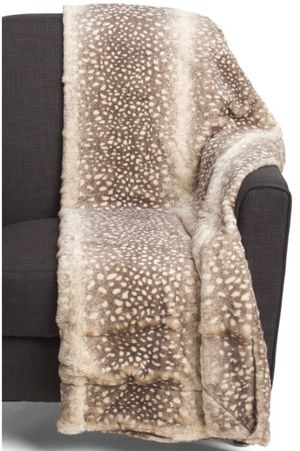 CYNTHIA ROWLEY FAUX FUR BLANKET for Sale in Westminster, CA