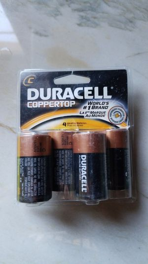 Duracell batteries Size C coppertop 4 pack for Sale in Anaheim, CA
