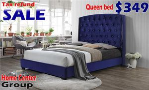 Queen bed frame available in king size for Sale in Southfield, MI