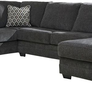 NEW IN THE BOX. STYLISH RAF CORNER CHAISE SECTIONAL, SLATE, SKU# TC77600 for Sale in North Tustin, CA