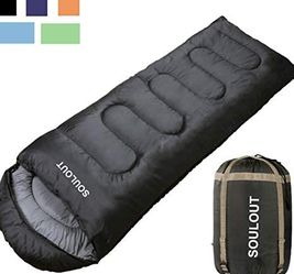 Sleeping Bag - 4 Seasons Warm Cold Weather Lightweight, Portable, Waterproof Sleeping Bag with Compression Sack - Indoor & Outdoor for Sale in Alhambra,  CA