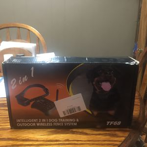 2 in 1 dog training & outdoor wireless fence system for Sale in Troy, TN