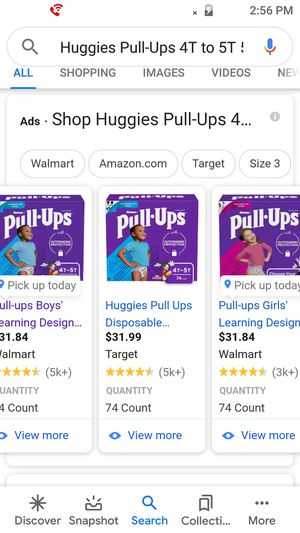 Huggies pull ups size 4t to 5t for Sale in Tacoma, WA