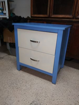 Blue and white nightstand for Sale in Bartow, FL