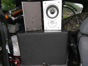Psb subwoofer and pair of Polk audiospeakers for Sale in Nashville, TN