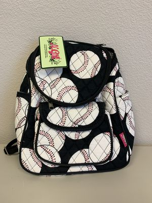 Mini Quilted Backpack- Baseball Print. Perfect for teens and kids. Sling bag. for Sale in The Colony, TX