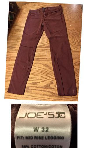 Joe's brand maroon colored mid rise legging size 32 for Sale in Portland, OR