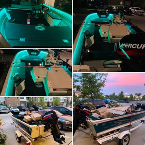 Sylvan Boat with 40 hp Mercury for Sale in Houston, TX
