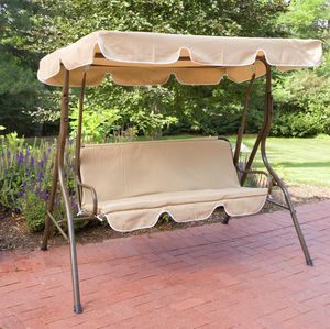 Coral Coast Ginger Cove 2 Person Adjustable Tilt Metal Canopy Porch Swing- Light Bronze for Sale in Los Angeles, CA