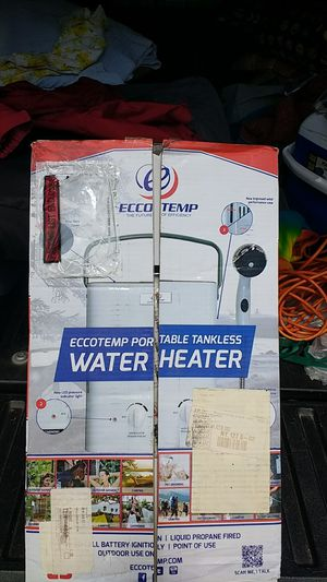 Ecotemp portable tankless water heater for Sale in Pompano Beach, FL