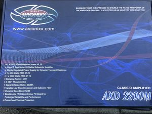 AVIONIXX 2200 AMPLIFIER BRAND NEW for Sale in Fontana, CA