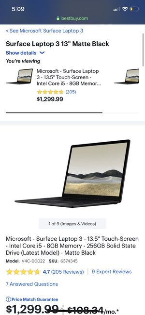 Microsoft Surface Laptop 3 USED OBO for Sale in Pomona, CA